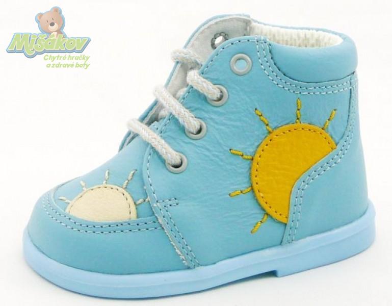 DPK dětská obuv kožená - capáčky K51008 SLUN SVM OR 4510cc621e