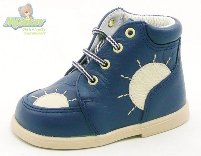 DPK dětská obuv kožená - capáčky K51008 SLUN MO BE 749d2c3590