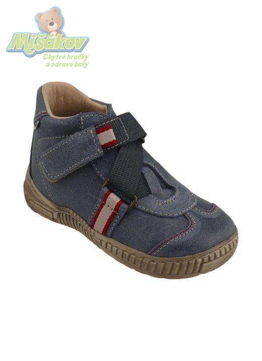f419ec9e738 Dětská obuv jarní kožená kotníčková suchý zip PEGRES 1403.01 27-30