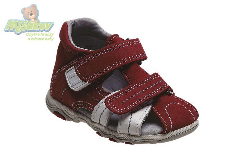 SANTE dětská obuv letní - sandály N 950 901-902 34 10 červeno-bílá df2891ff11